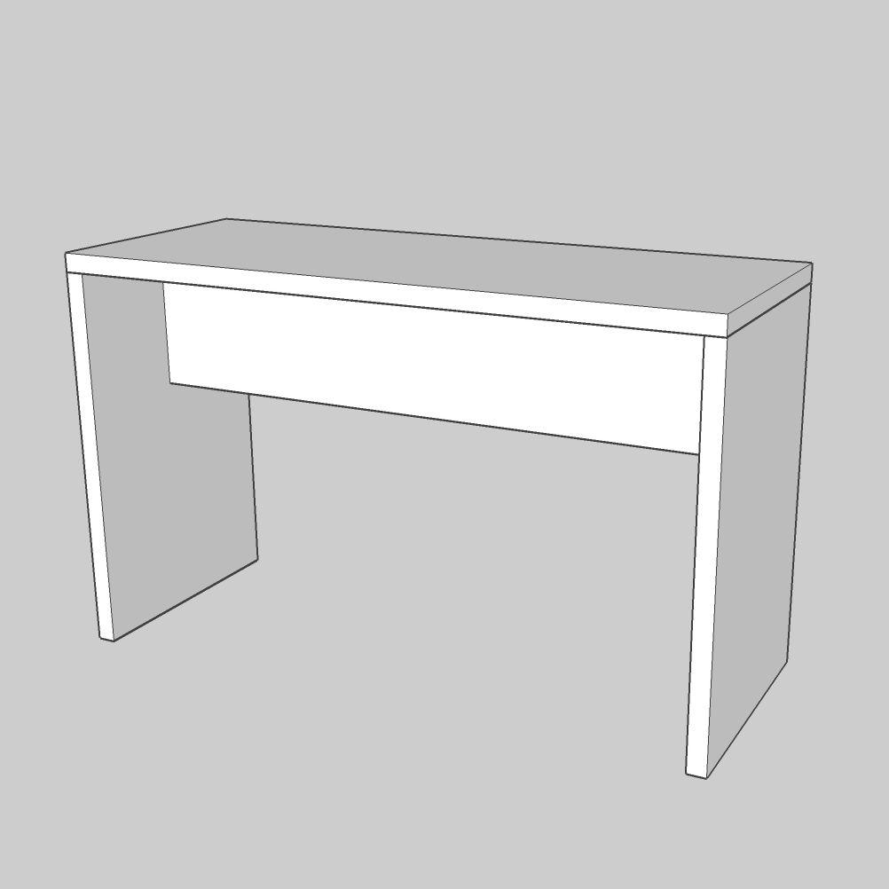 bridgetable modulo 110 / 180×70 white