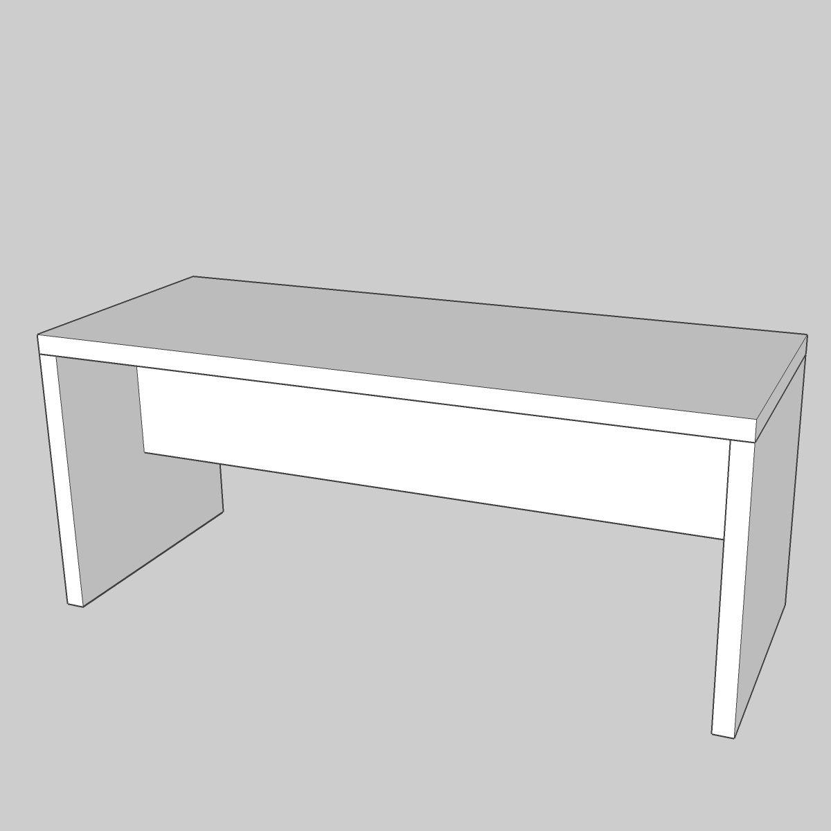 bridgetable modulo 75 / 180×70 white